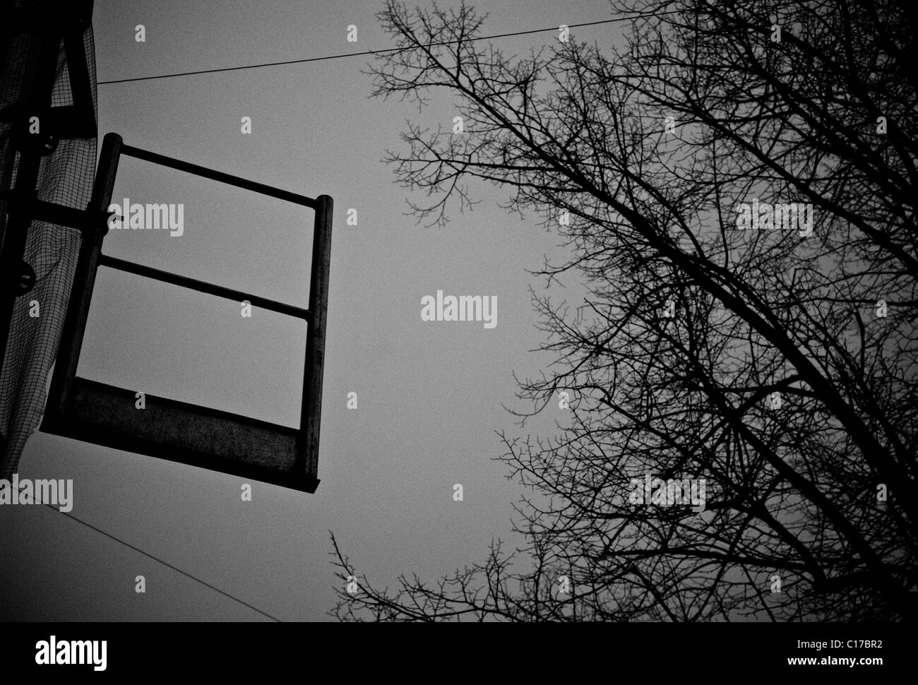 SCAFFOLDING COPY SPACE - Stock Image