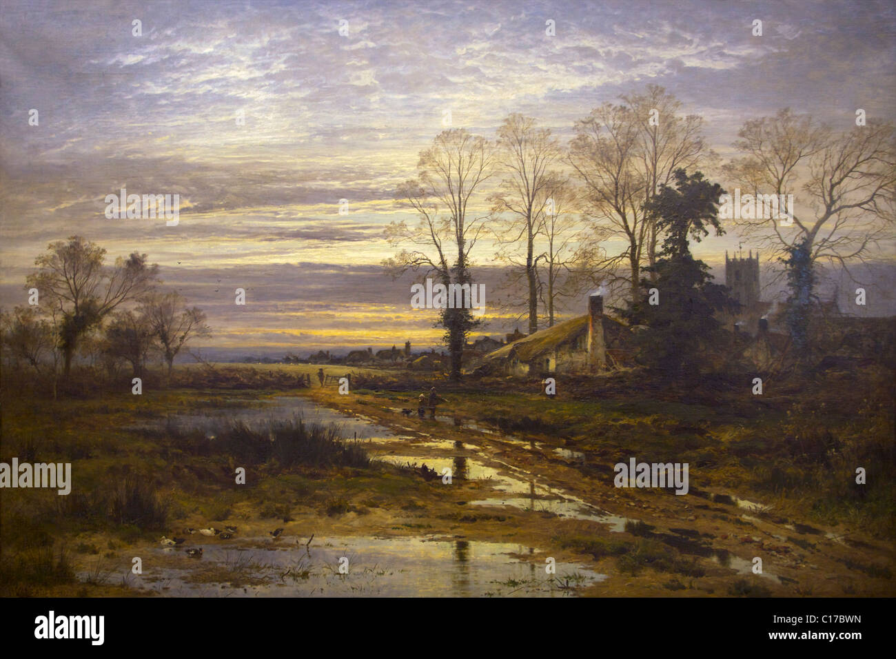 February Fill Dyke, by Benjamin Williams Leader, 1881, - Stock Image