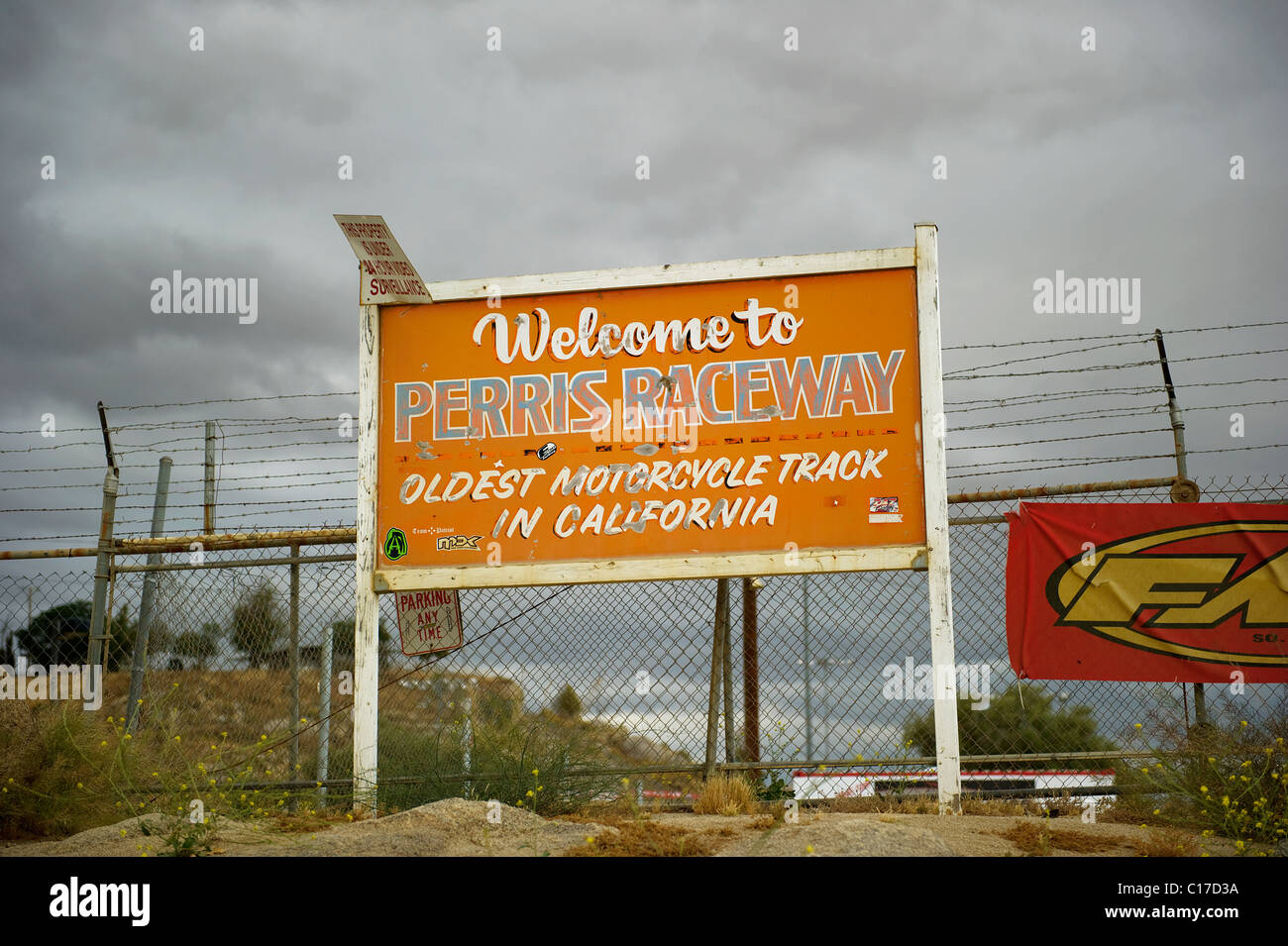 Perris Raceway Oldest Motorcycle Motocross Track In California Sign Stock Photo Alamy