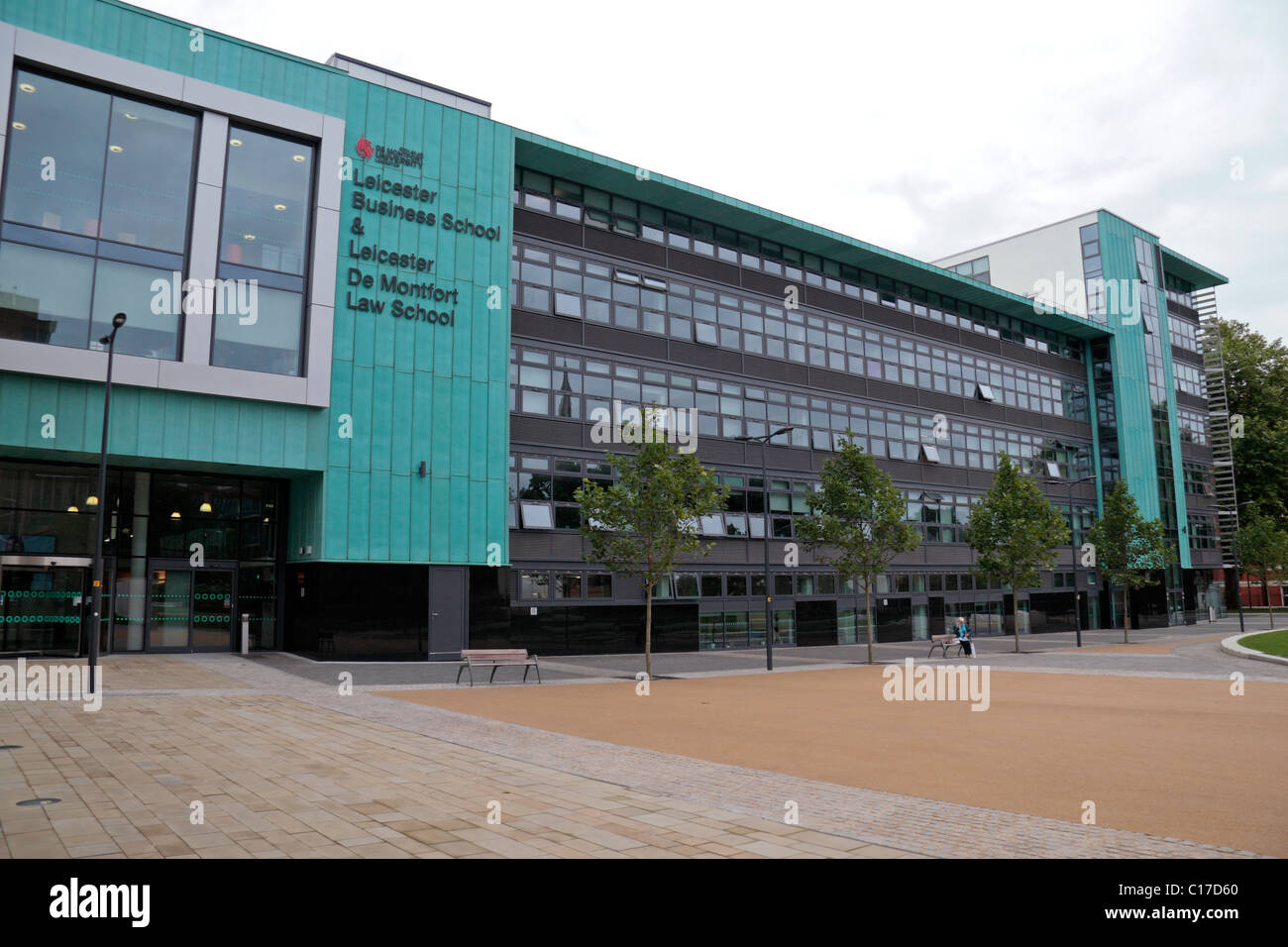 The Leicester Business School and Law School building of De Montfort University (DMU) in Leicester, England, UK. - Stock Image