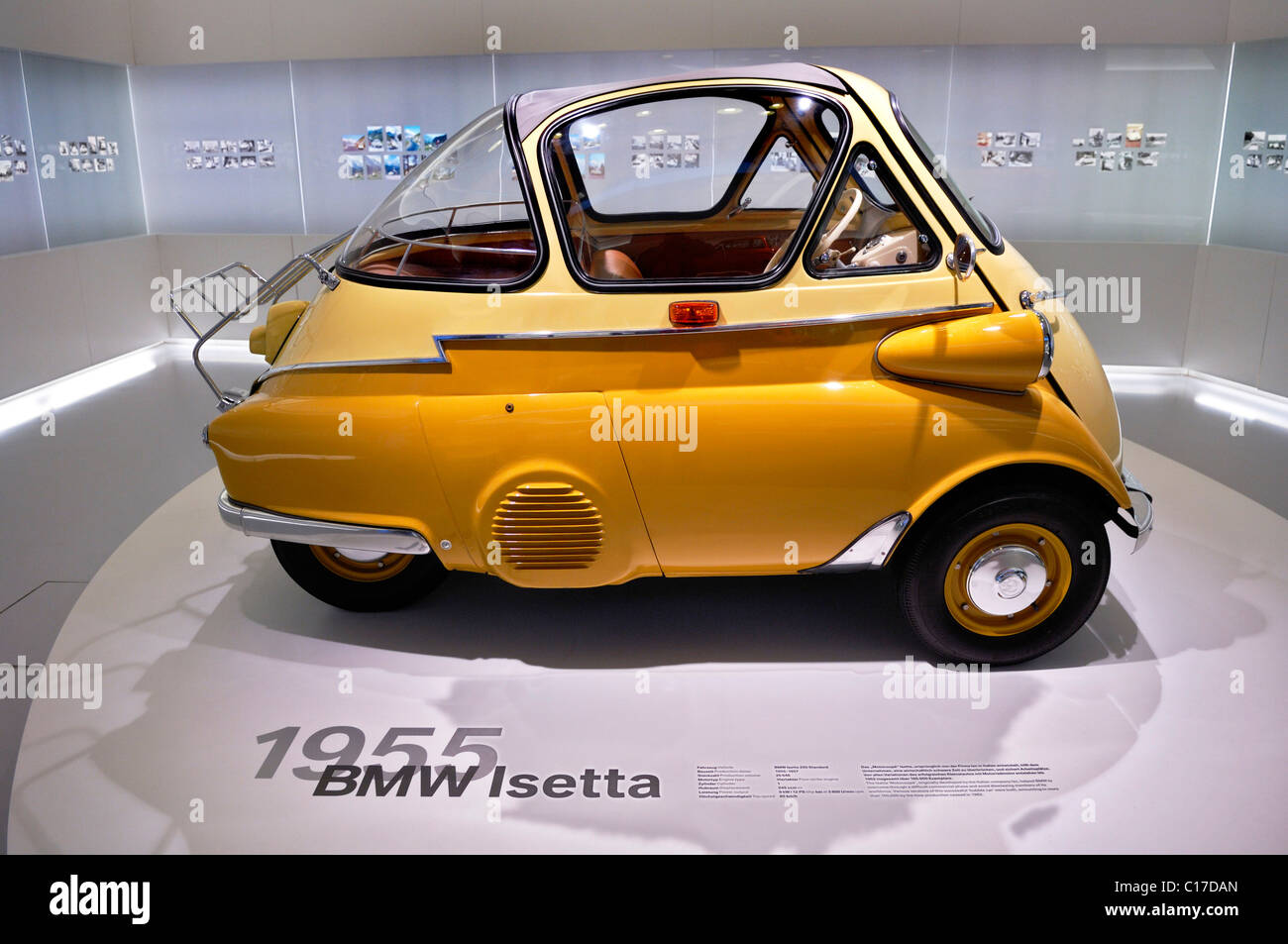 BMW Museum, BMW Isetta, Bubble Car, from 1955-57, Munich, Bavaria, Germany, Europe - Stock Image