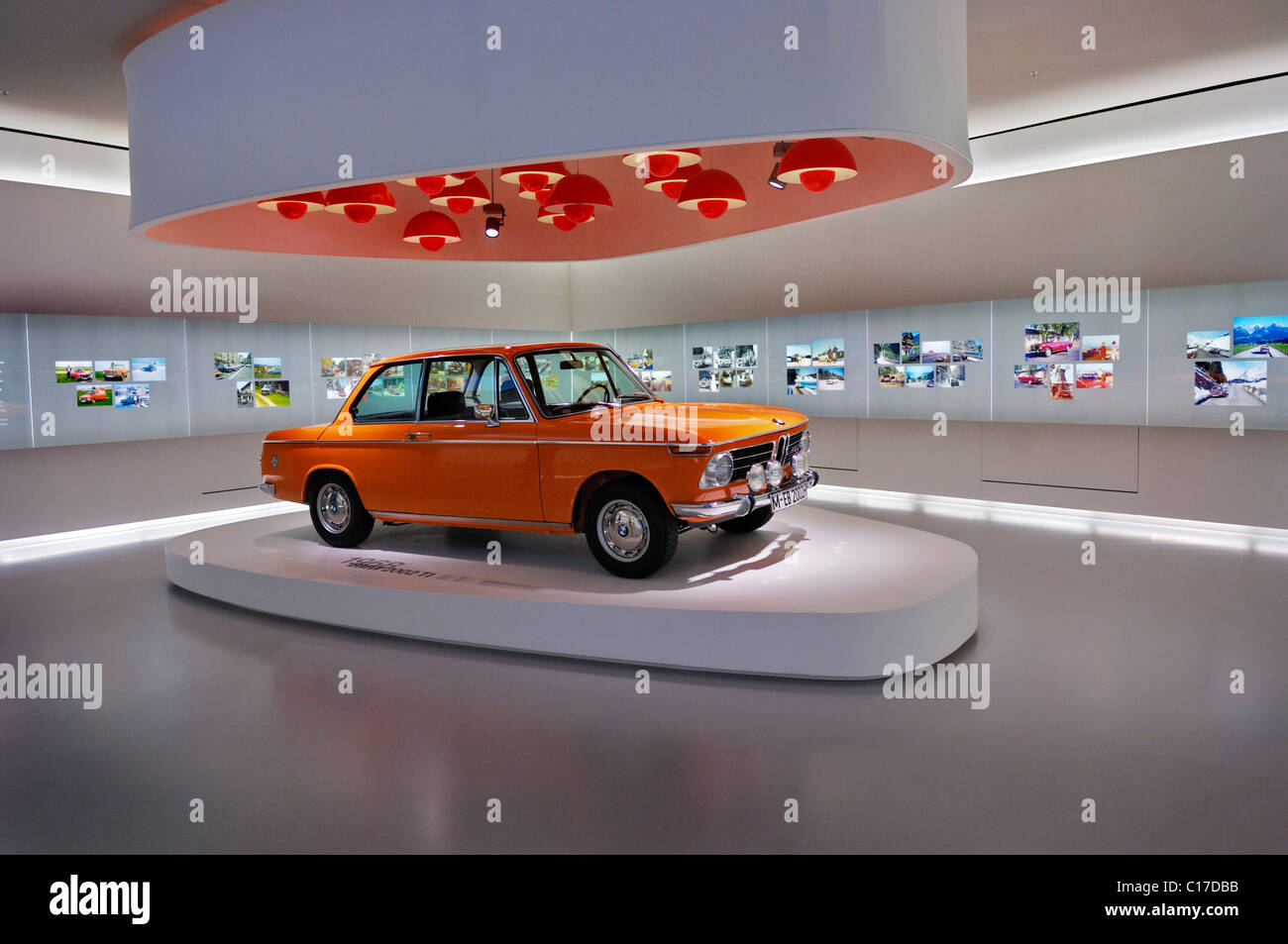 BMW Museum, BMW 2002 ti, from 1968, Munich, Bavaria, Germany, Europe - Stock Image