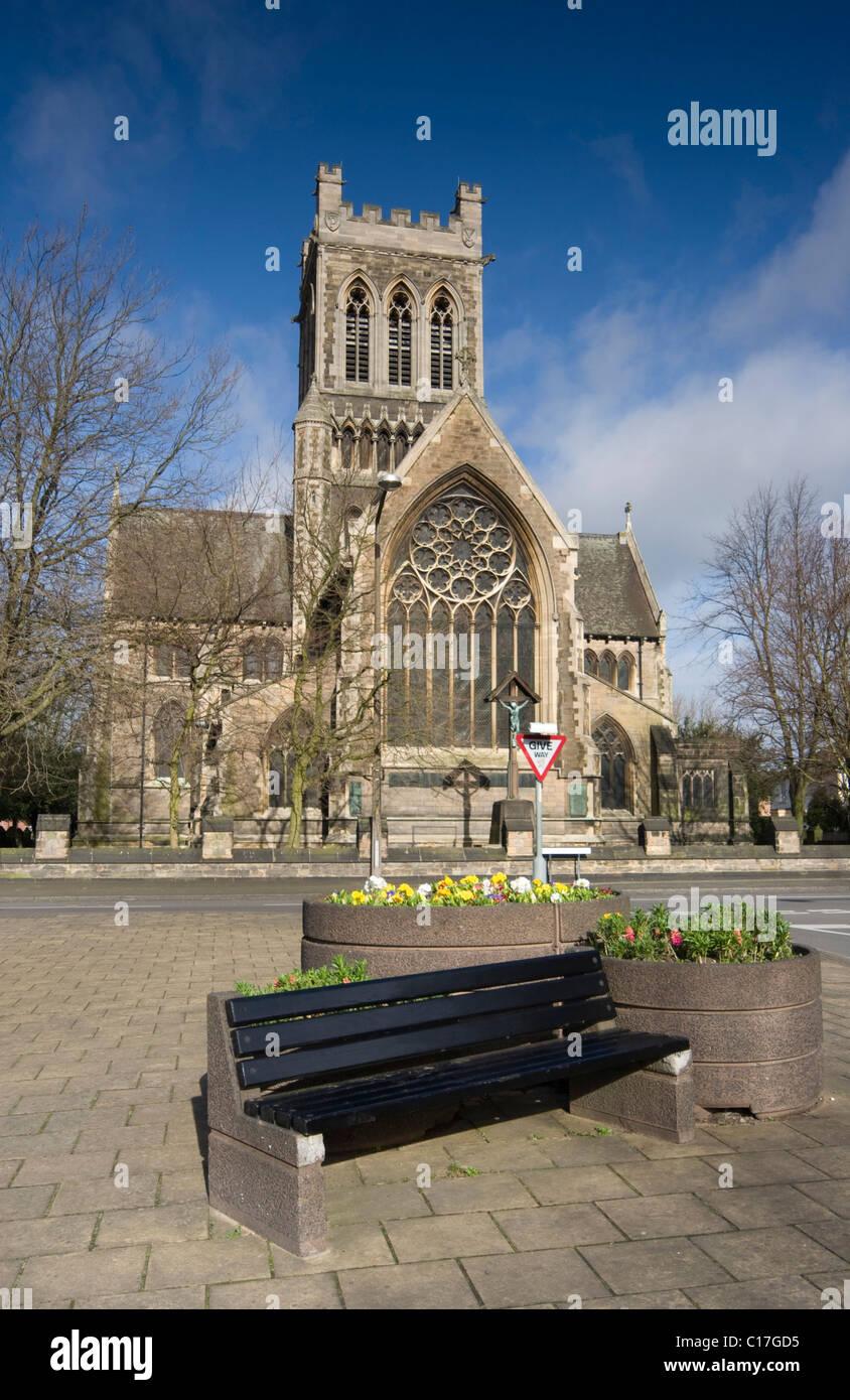 St Pauls Church Burton upon Trent - Stock Image
