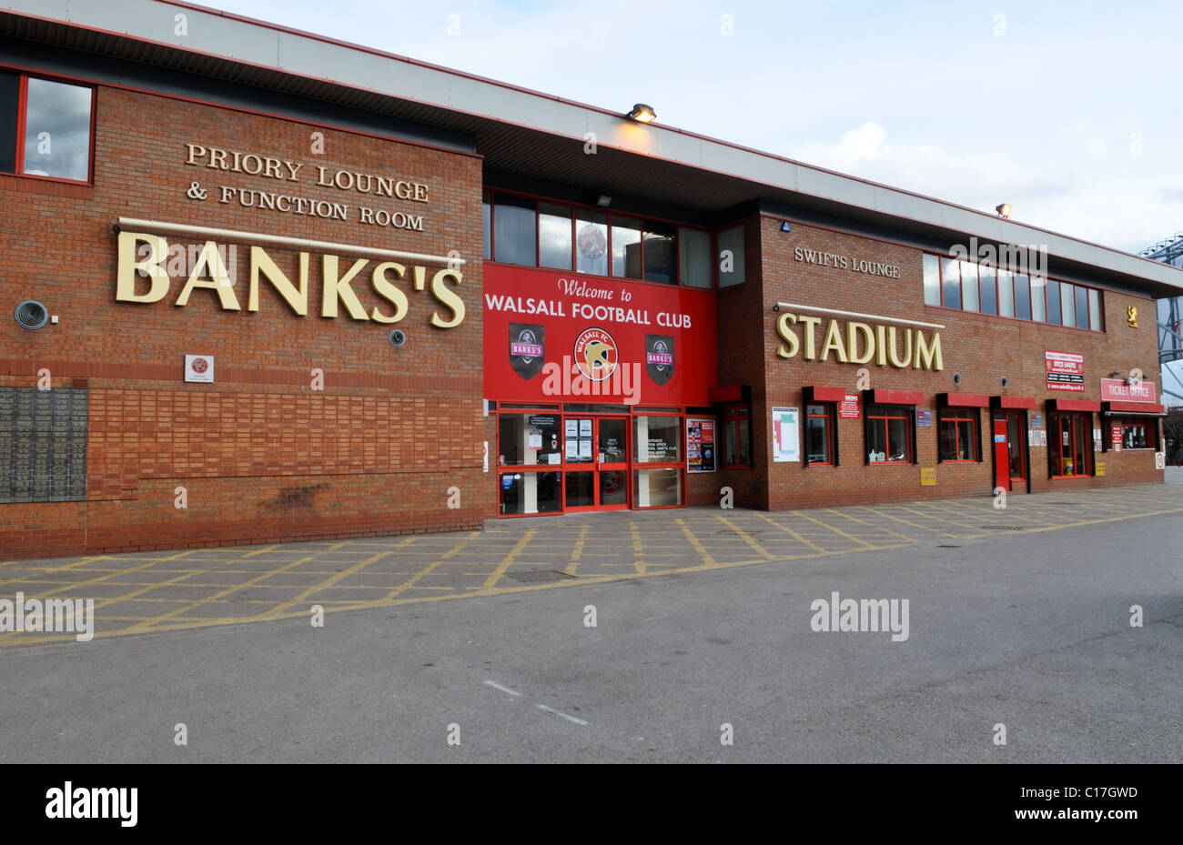 Entrance to Walsall FC Banks's Stadium at Bescot home to The Saddlers - Stock Image
