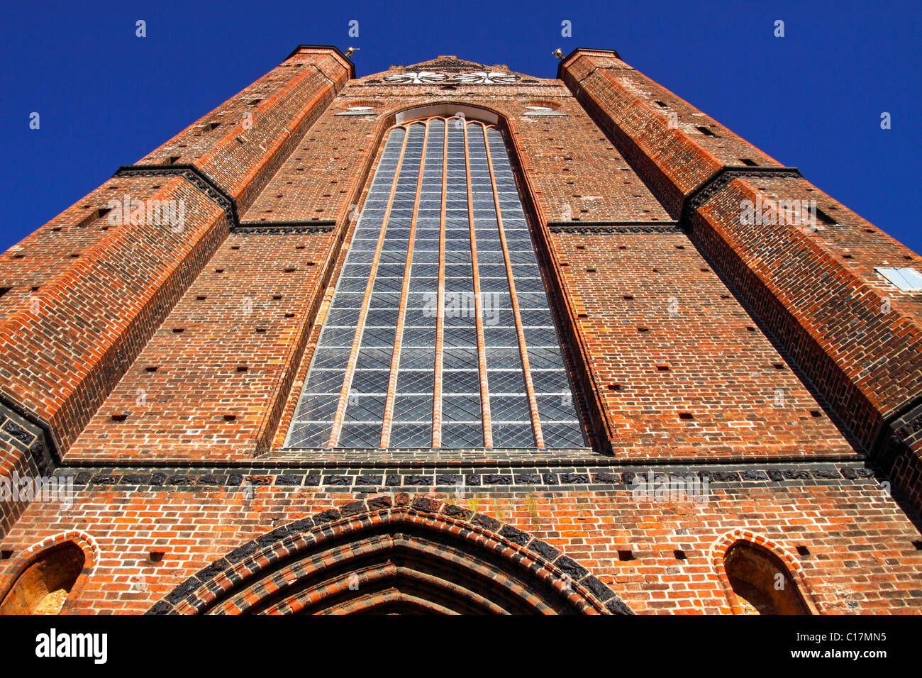 Historic St. George's Church in the Old Town of Wismar, UNESCO World Heritage Site, Mecklenburg-Western Pomerania - Stock Image