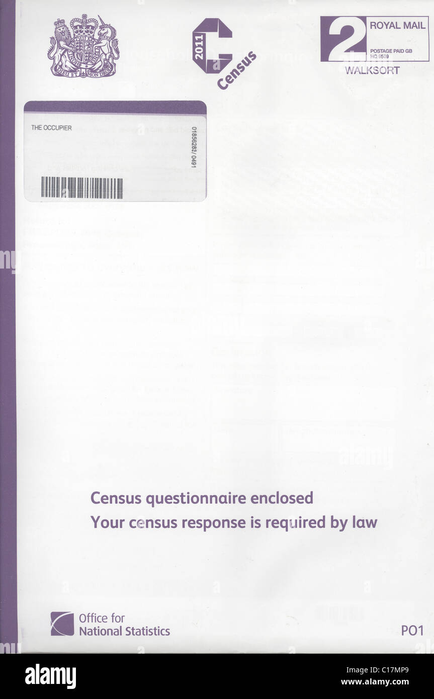 2011 Census letter - Stock Image