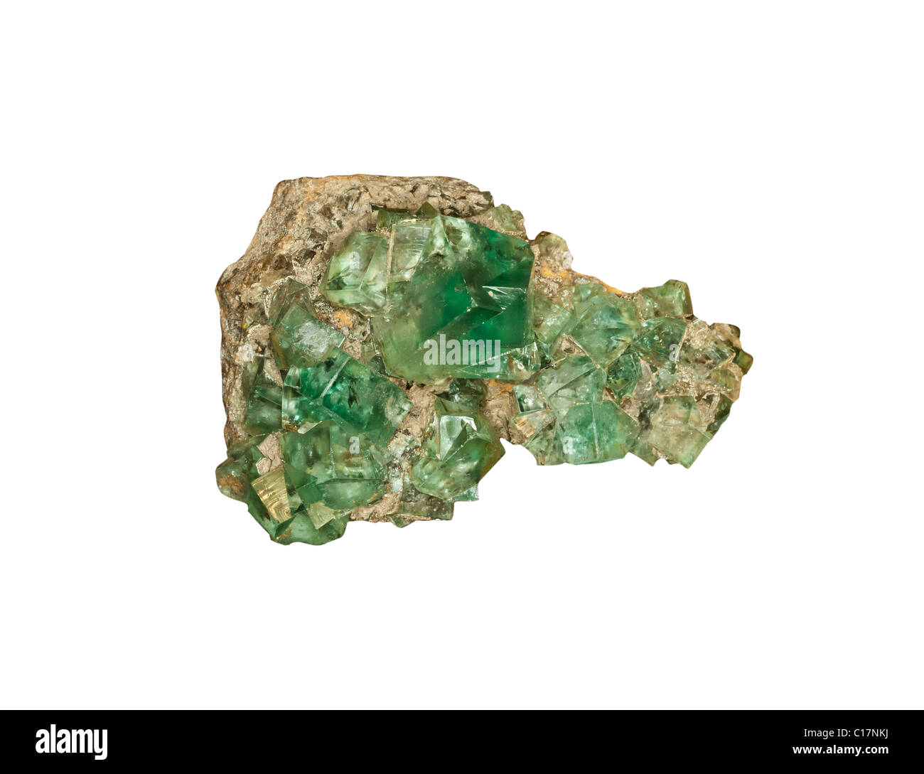 Green Fluorite from County Durham UK - Stock Image