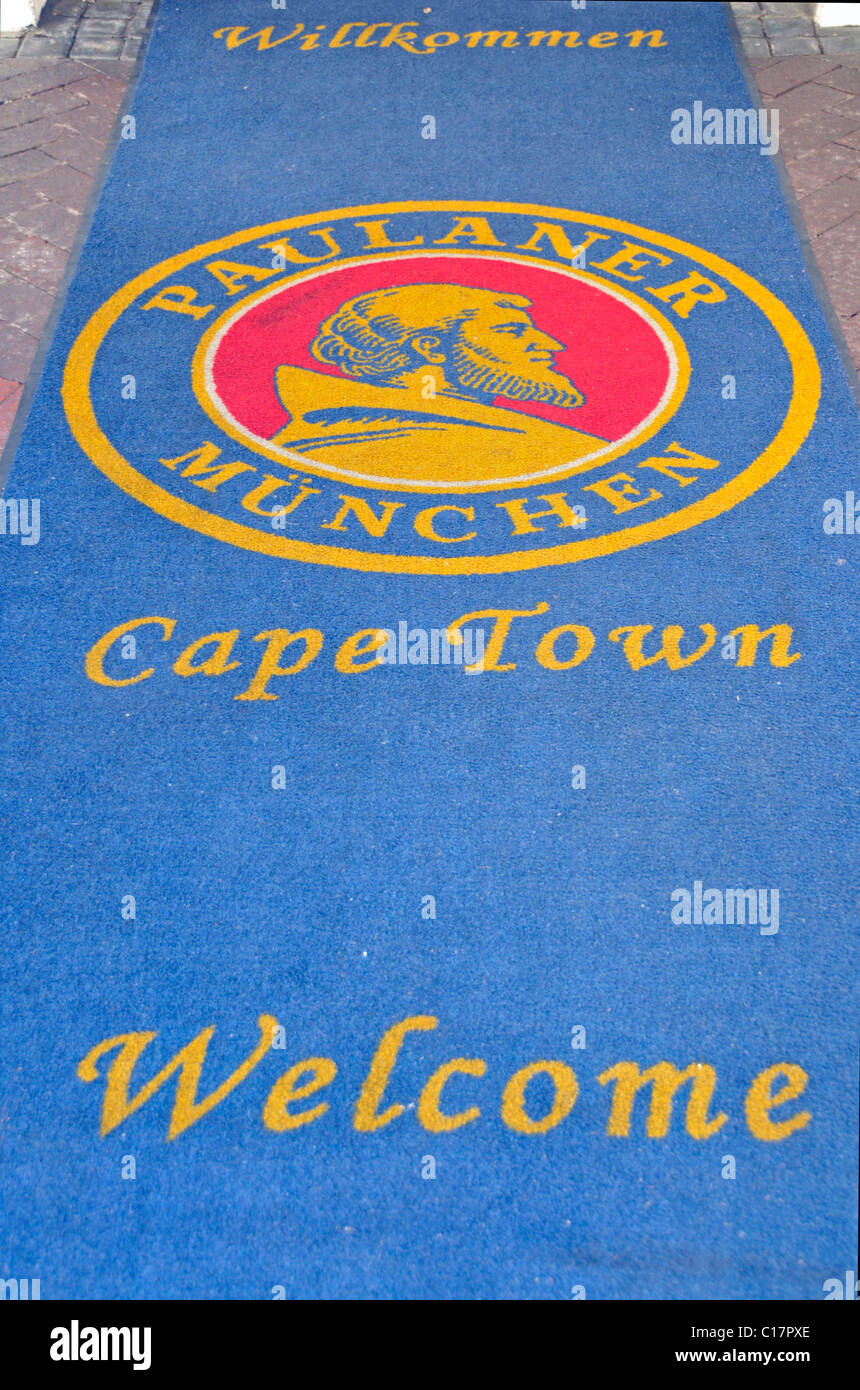 Entrance to Paulaner Braeuhaus, Kapstadt, South Africa, Africa - Stock Image