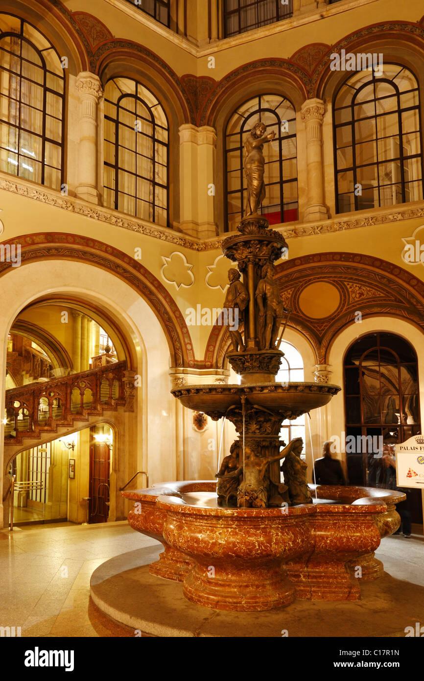 Donaunixenbrunnen, fountain, in Palais Ferstel, Palais Ferstel, Vienna, Austria, Europe - Stock Image
