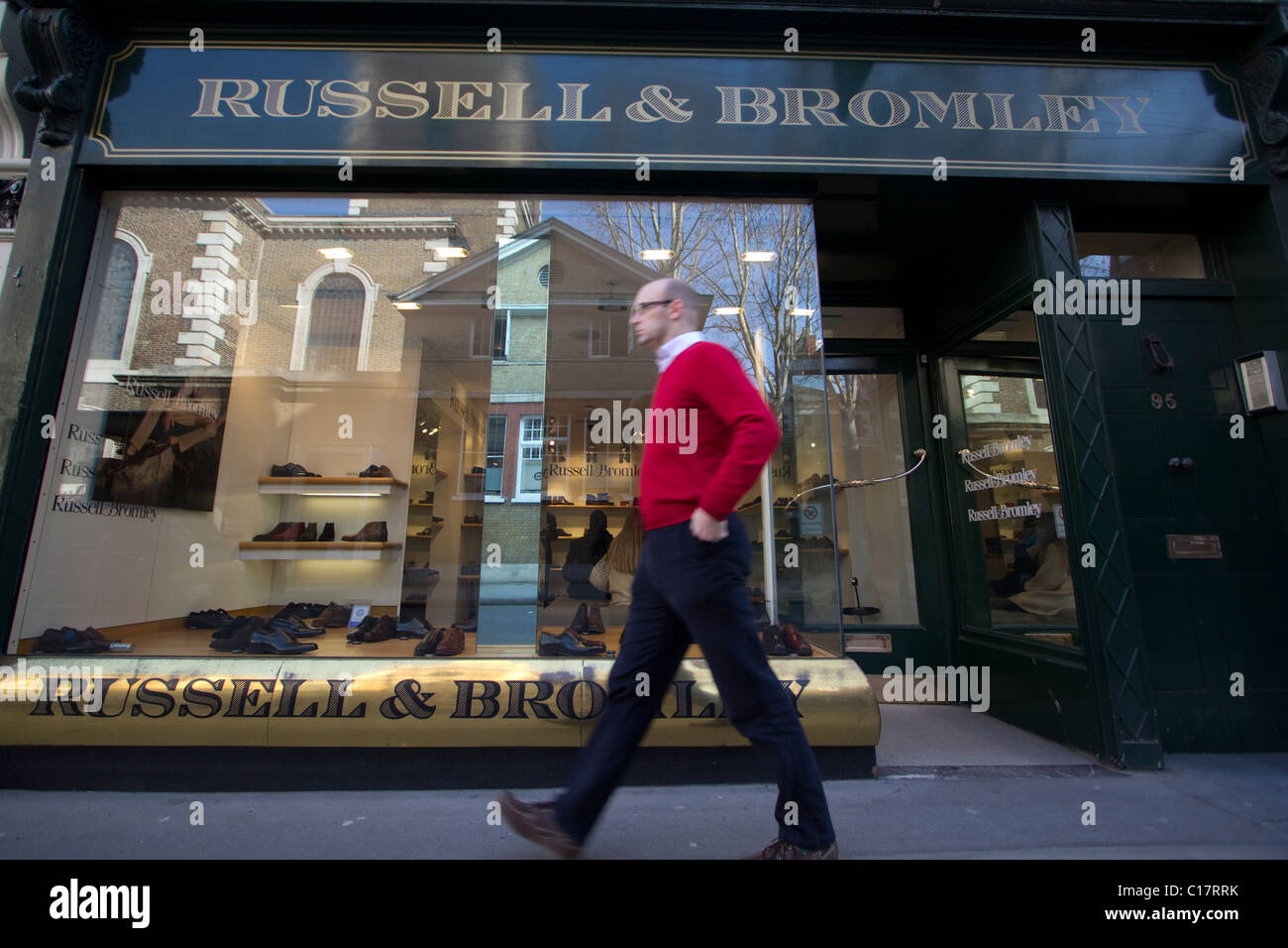 Russell and Bromley shoe retailer shop - Stock Image