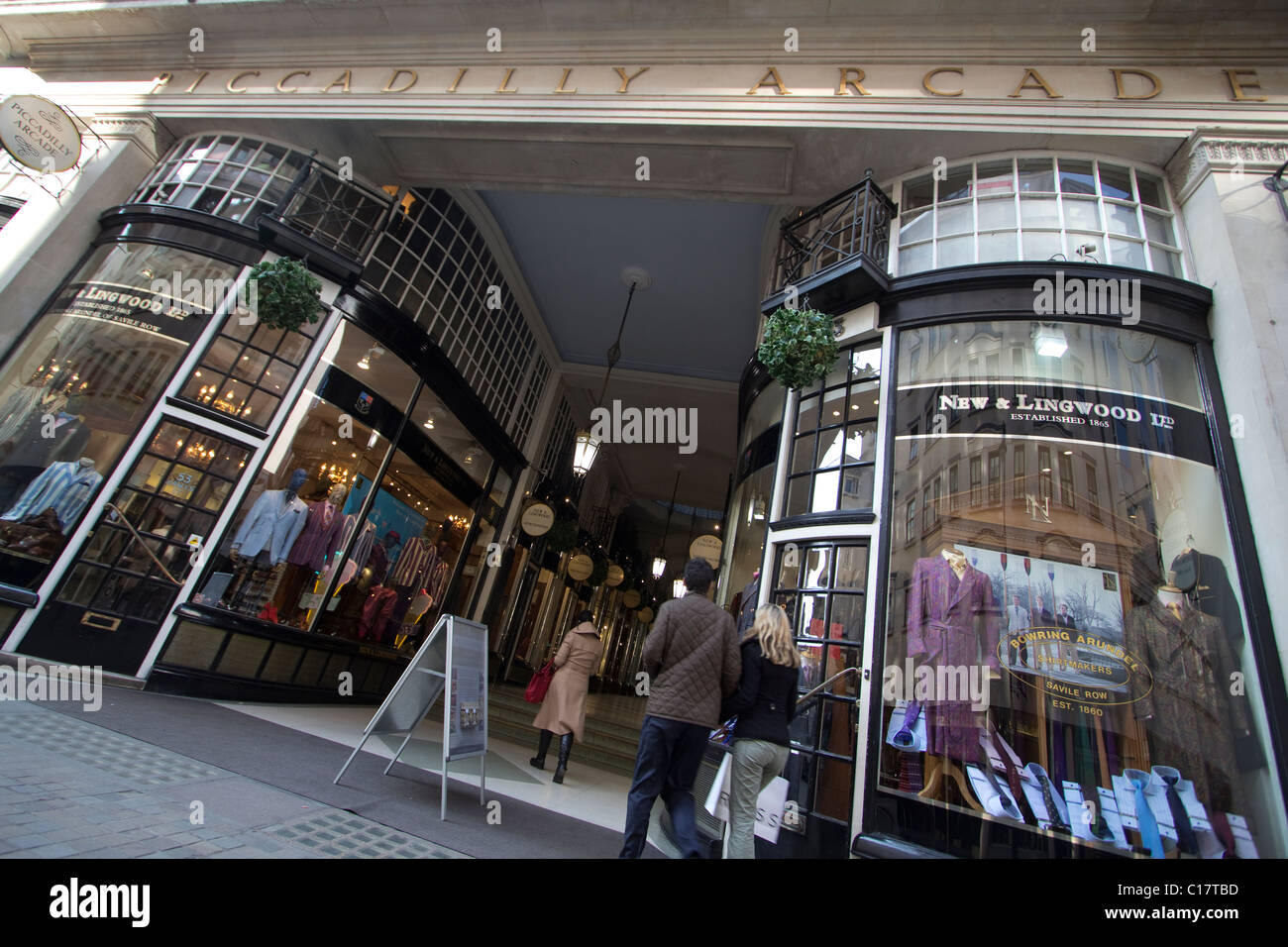 Piccadilly arcade london - Stock Image
