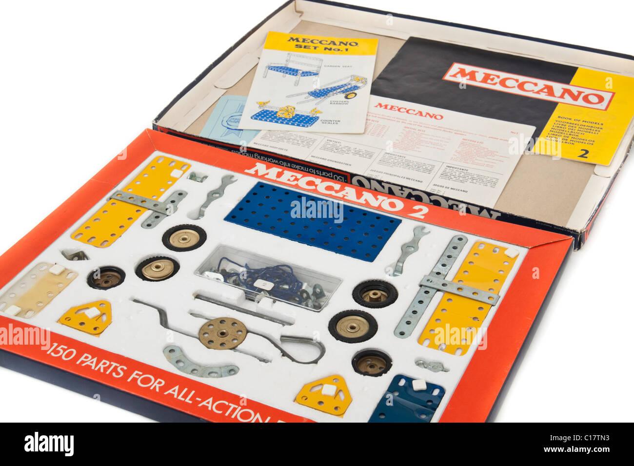 Vintage 1973 Meccano construction kit No 2 - Stock Image