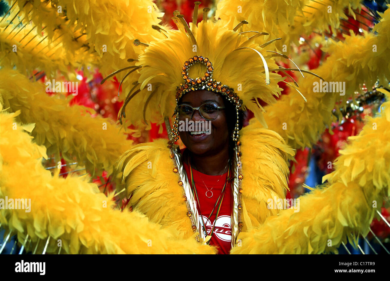 United Kingdom, London, Nothing Hill, the Jamaican carnival - Stock Image