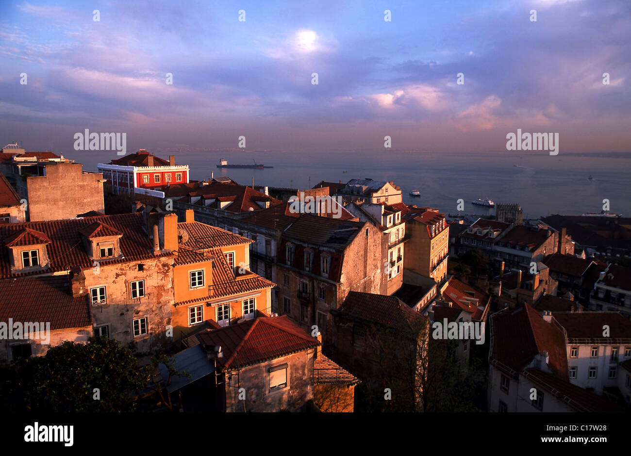 Portugal, Lisbon, the city and the Tage - Stock Image