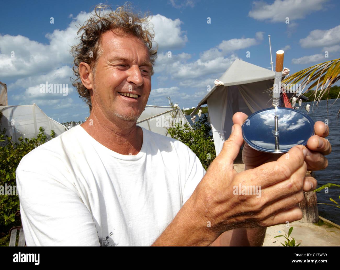 Richard Sowa Bottle Island Isla Mujeres Mexico City Mexico - Stock Image
