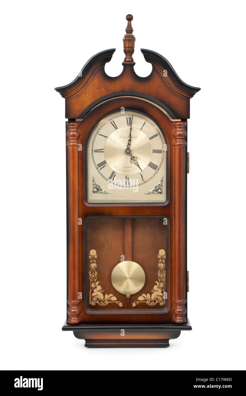 Reproduction antique wall clock by London Clock Co. - Stock Image