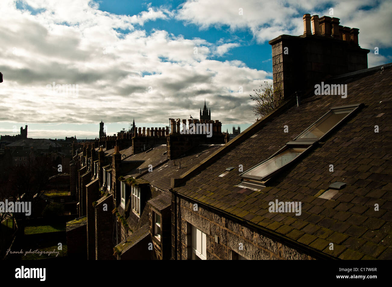 The bright blue sky hidden behind the clouds ... North... - Stock Image