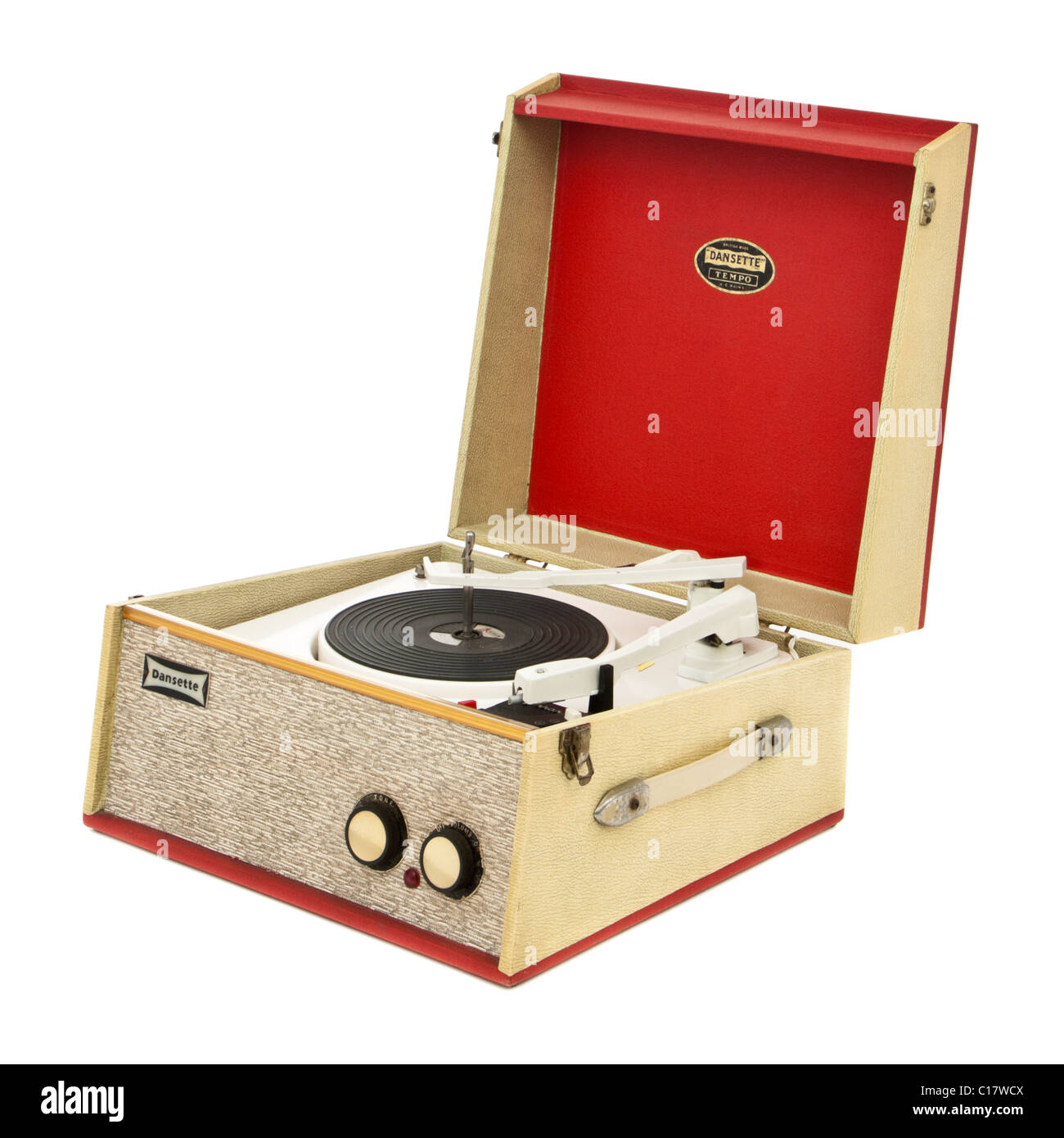 Vintage 1960 S Dansette Tempo 4 Speed Portable Record
