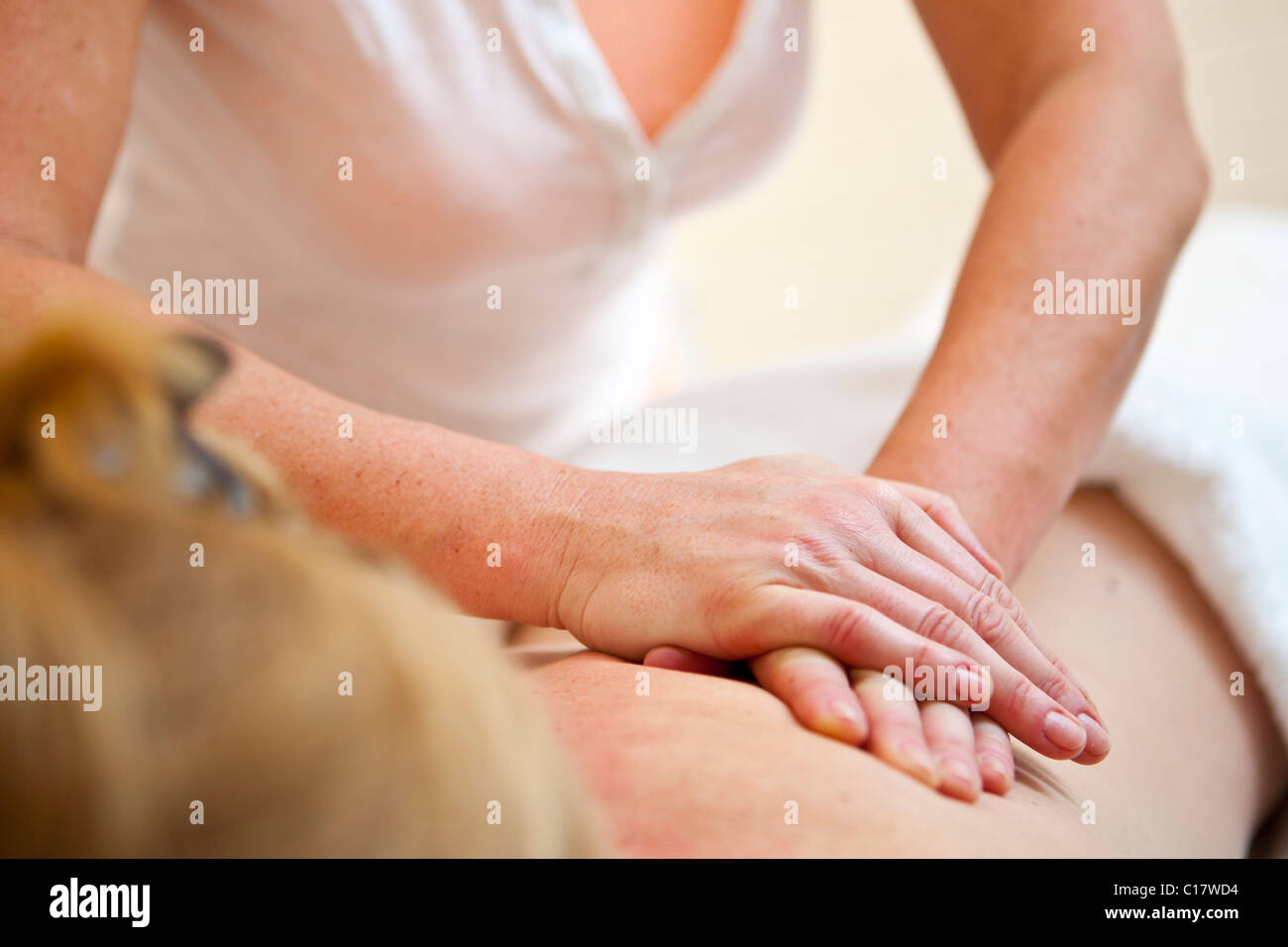 Massage therapy - Stock Image