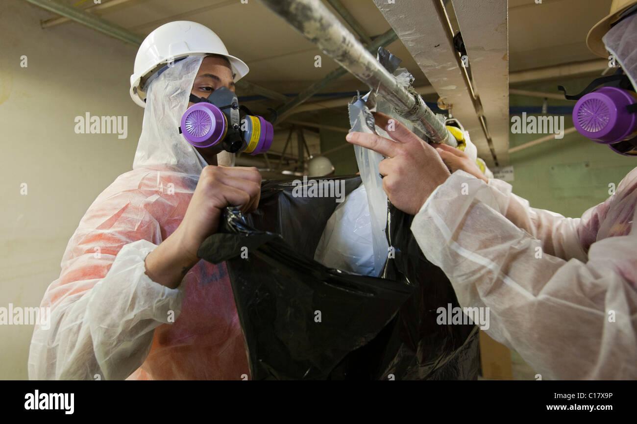 Asbestos Removal Training Stock Photo