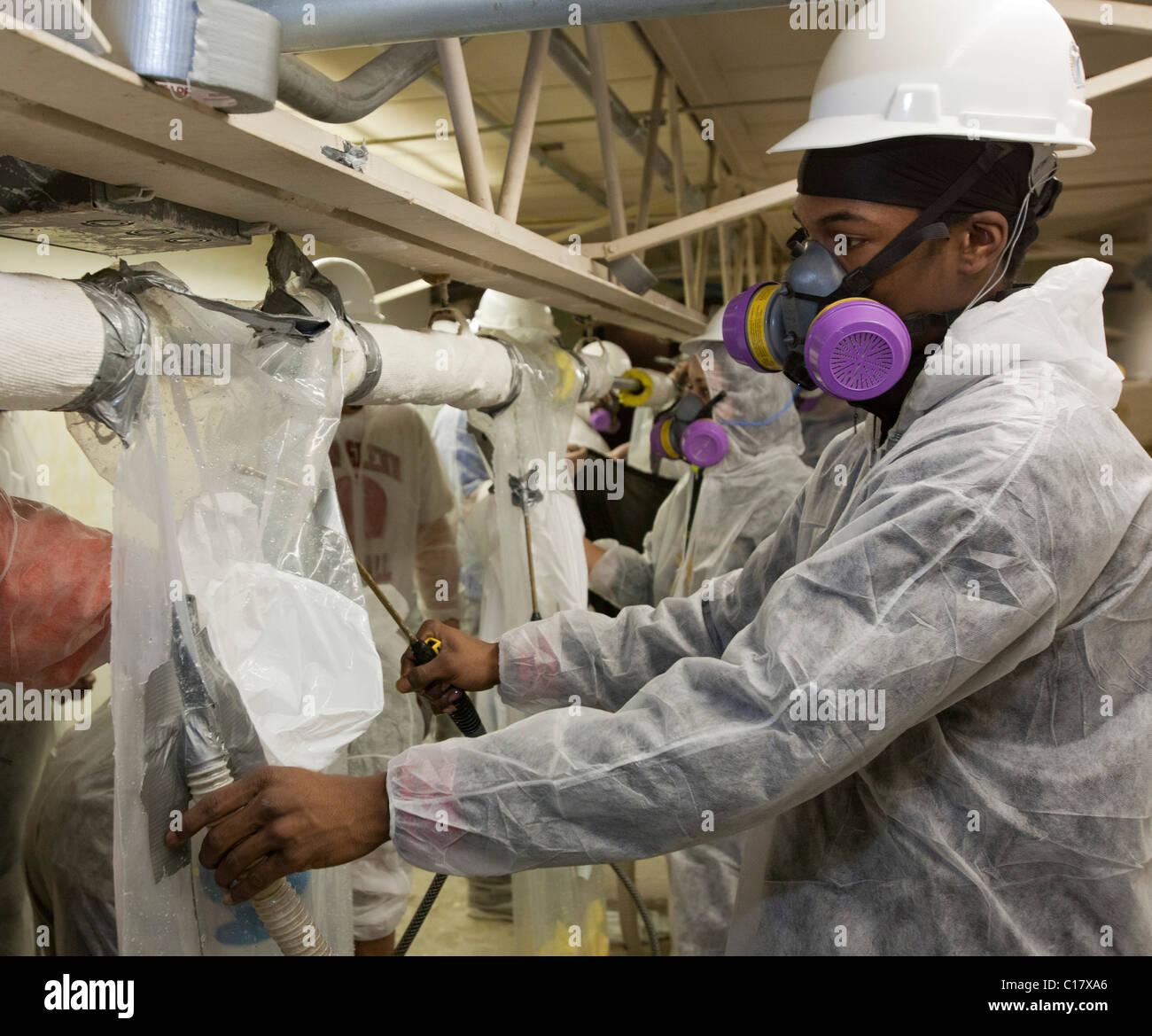 Asbestos Removal Training - Stock Image