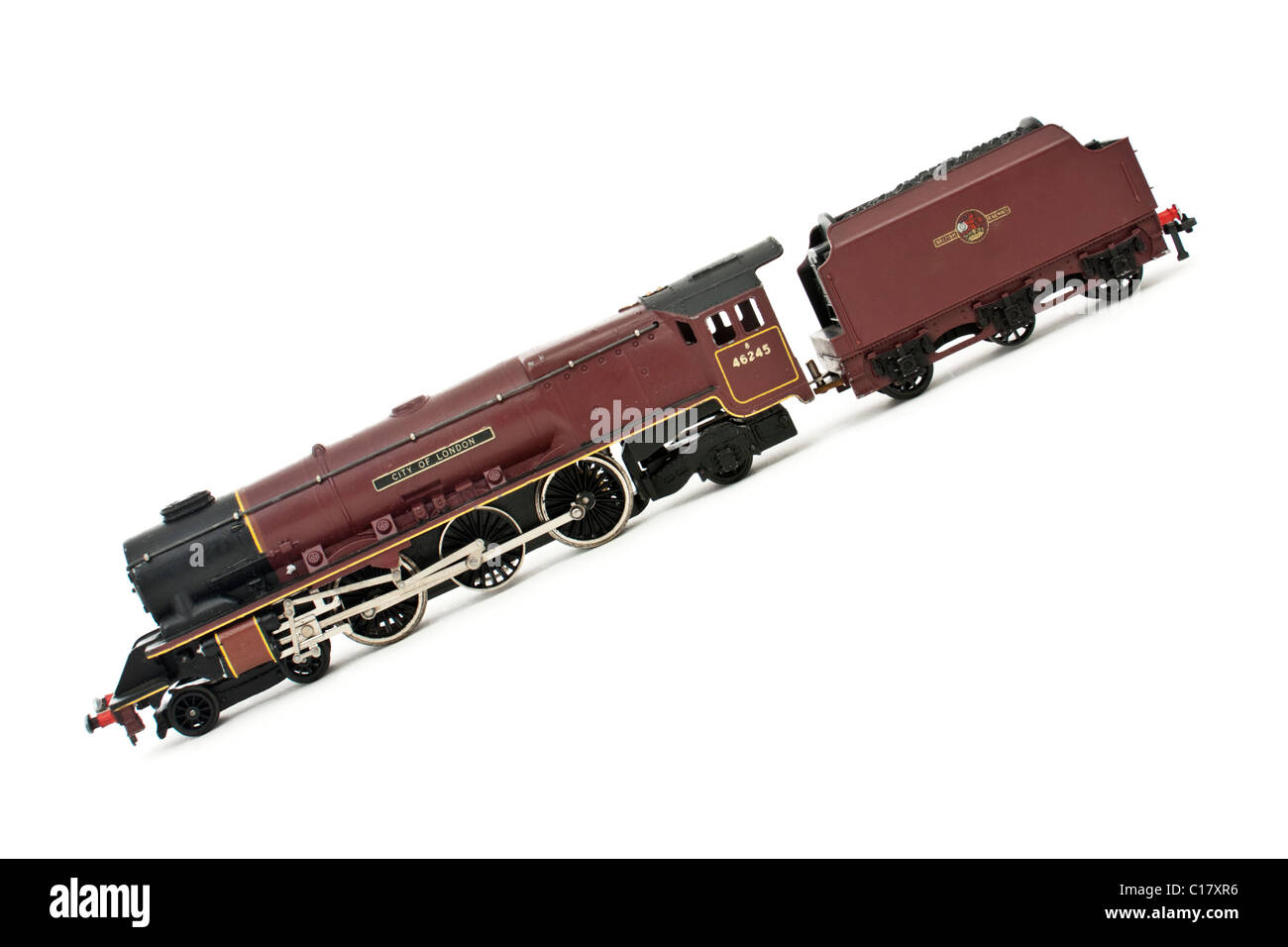 Vintage Hornby Dublo model railway locomotive 'City of London' with tender - Stock Image