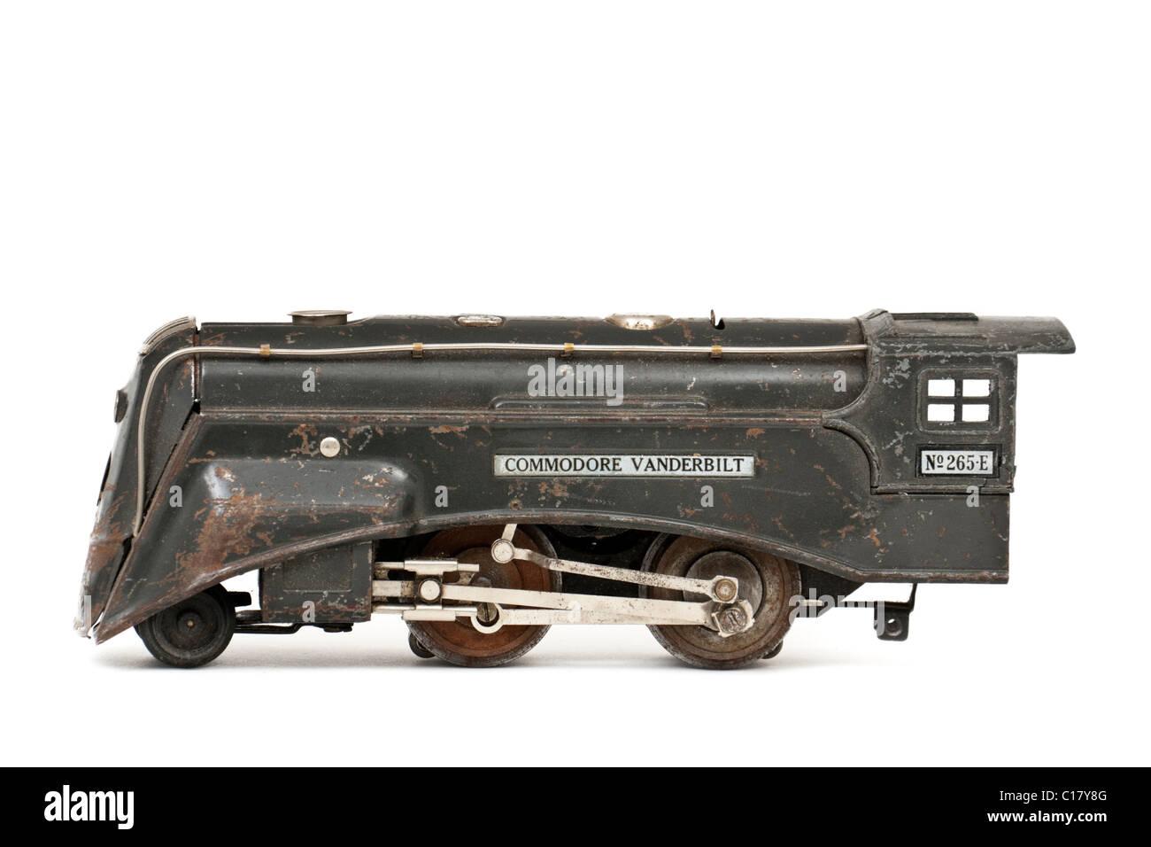 1935 Lionel 'Commodore Vanderbilt No 265-E' model railway locomotive (O-gauge, 3-rail) - Stock Image