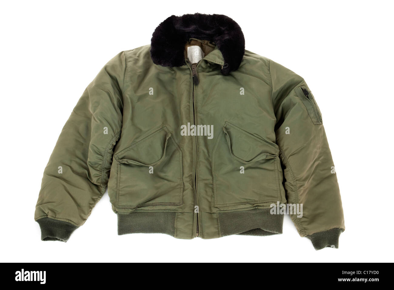 Reproduction American USAF cold weather pilot jacket (type CWU-36/P) - Stock Image