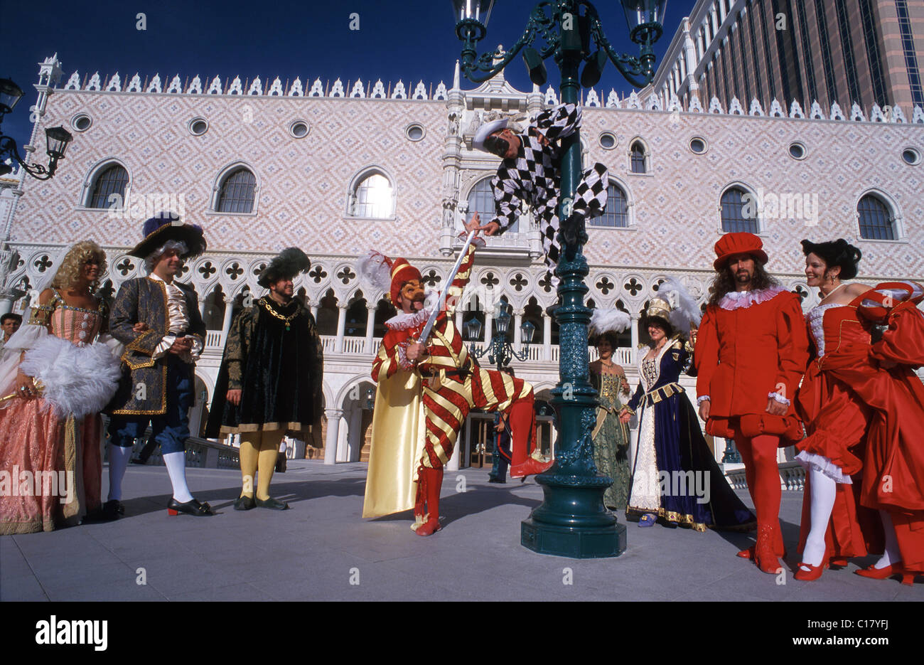 United States, Nevada, Las Vegas, opera's characters at the Venetian, last palace on the Strip - Stock Image