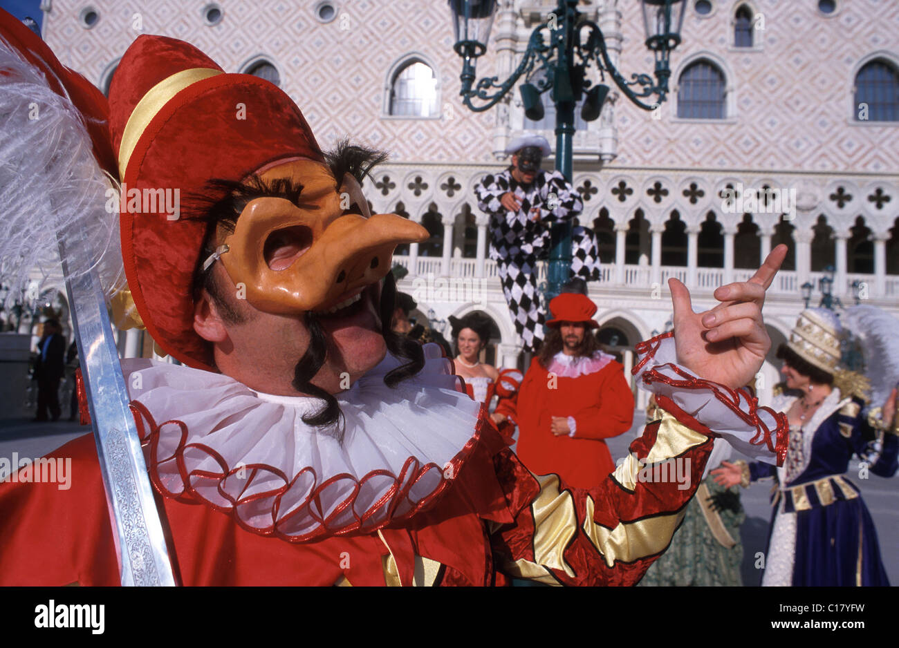 United States, Nevada, Las Vegas, opera's characters at the Venetian hotel - Stock Image