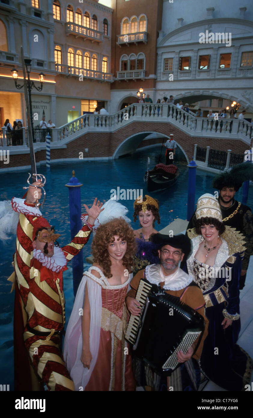 United States, Nevada, Las Vegas, the great canal and his opera's characters - Stock Image