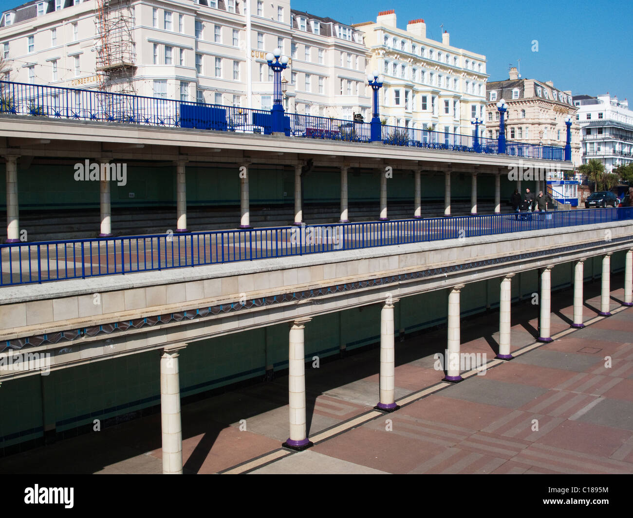 Eastbourne Art Deco Bandstand collonade - Stock Image