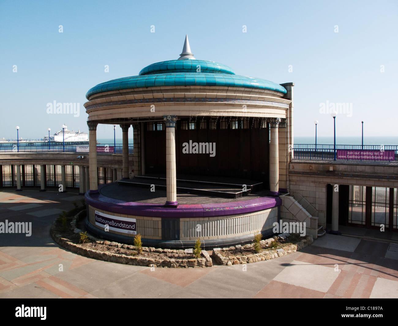 Eastbourne Art Deco Bandstand - Stock Image