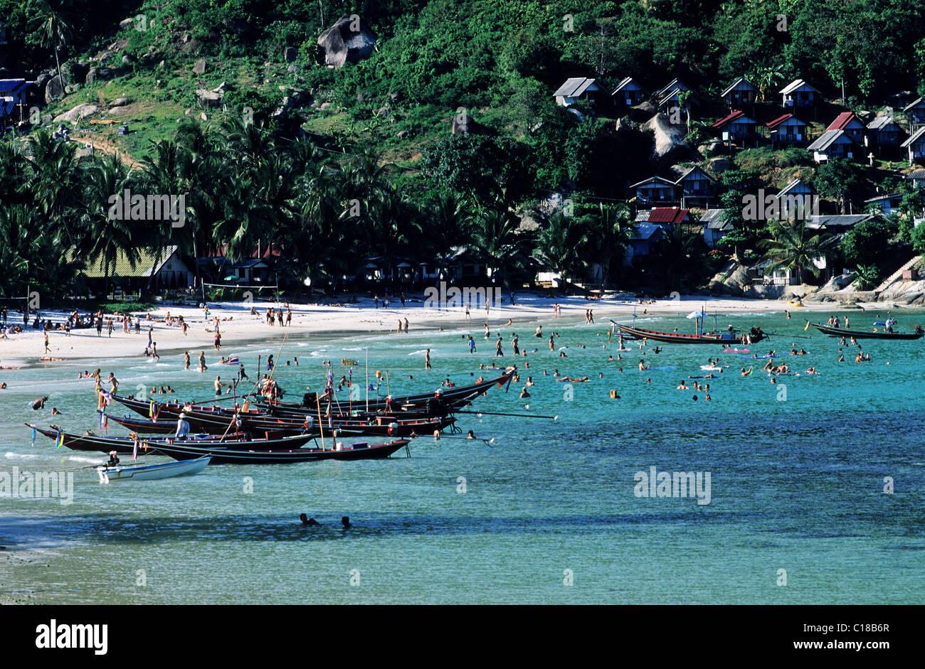 Thailand, Samui Islands archipelago, Full Moon Party on Koh Pha-Ngan Island, Had Rin beach - Stock Image