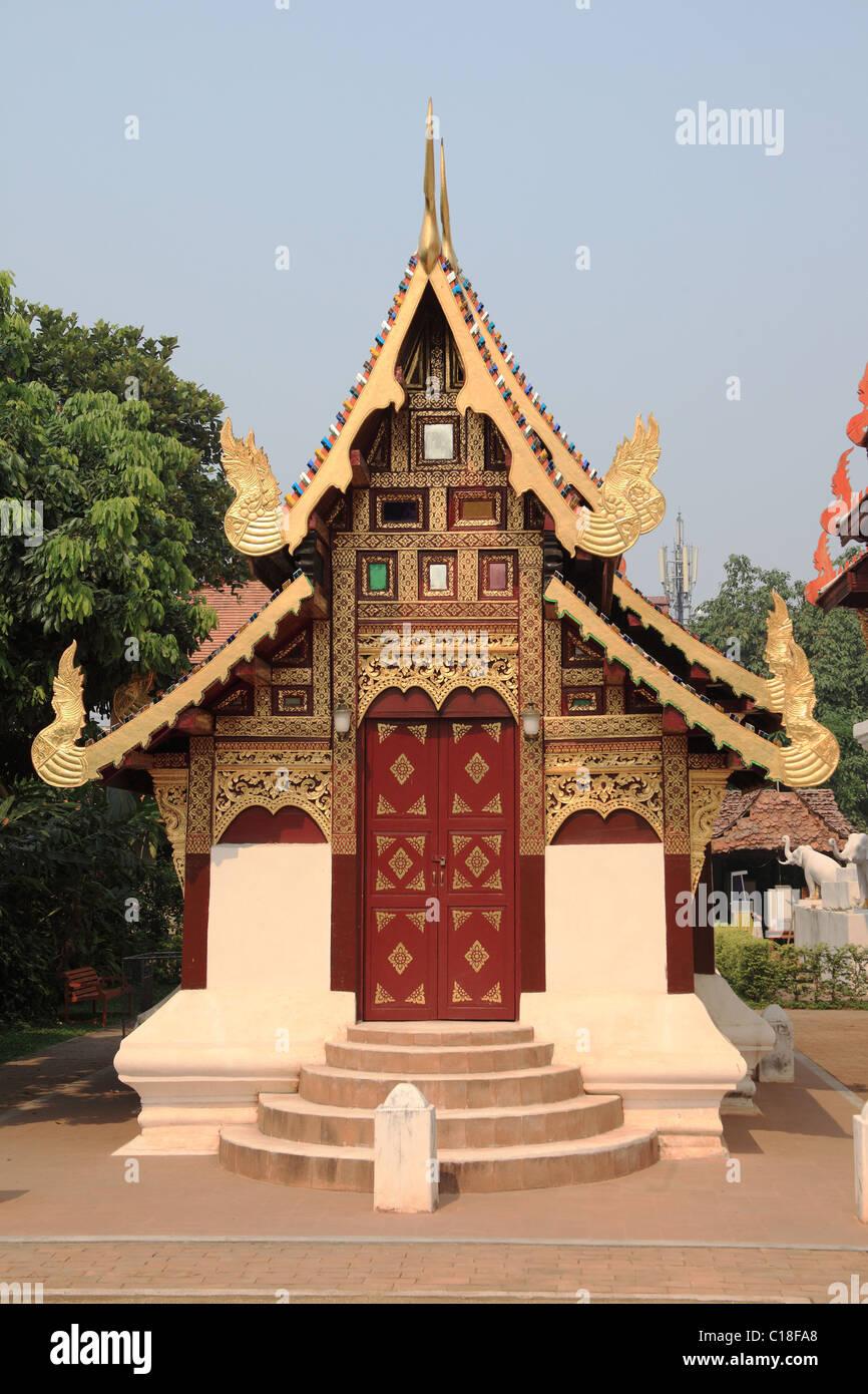 Chiang Mai, Wat Duang Dee, Thailand Stock Photo