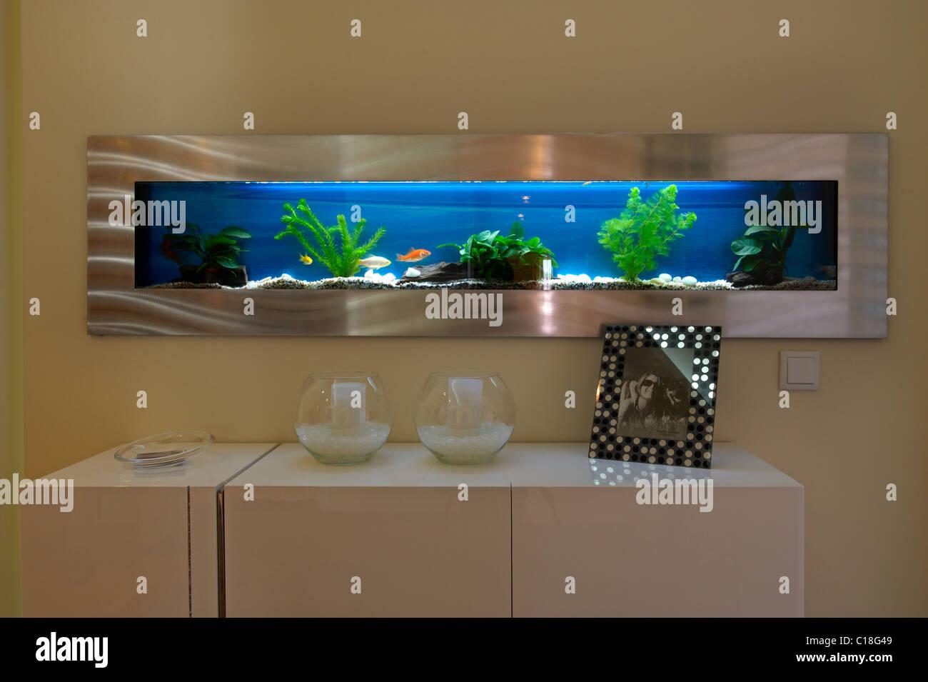 Modern aquarium - Stock Image