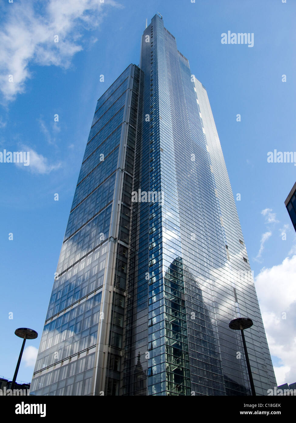 Heron Tower in Broadgate in the City of London is nearing completion - Stock Image