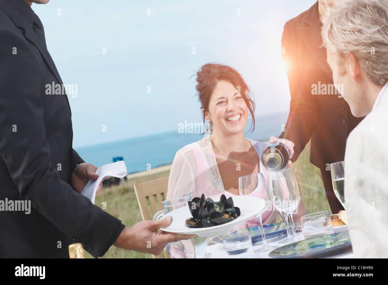 Romantic getaway - Stock Image