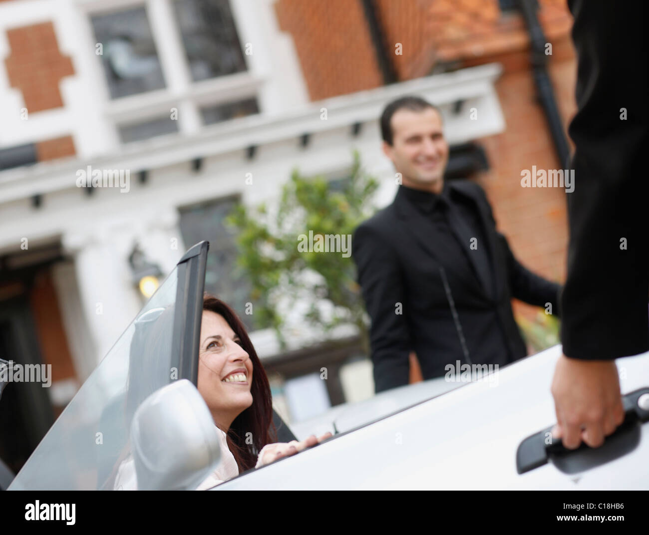 Guest arrival - Stock Image
