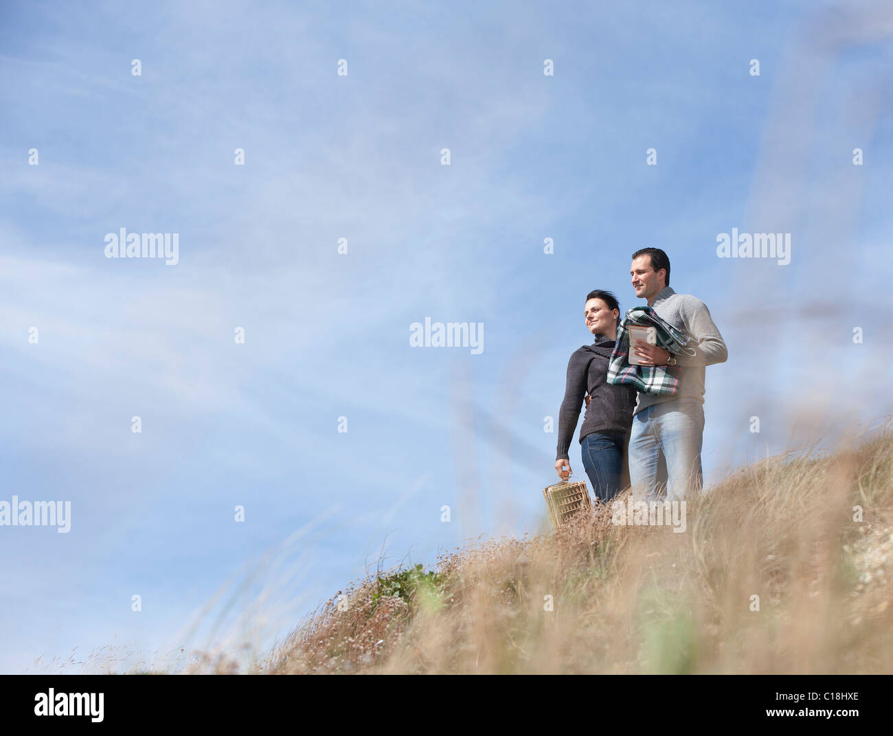 Couple appreciating nature - Stock Image