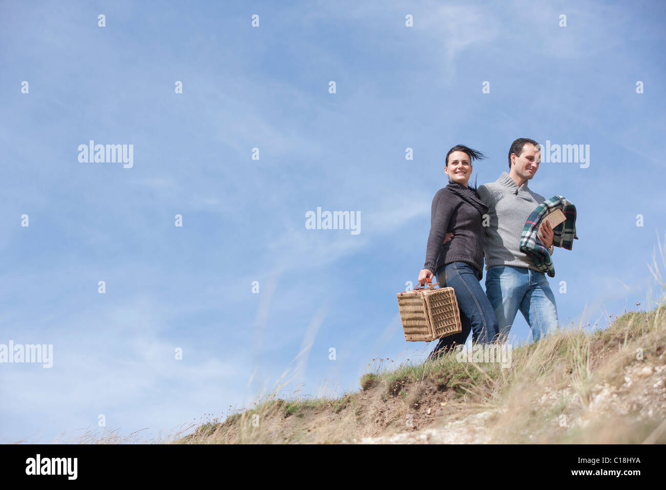 Couple taking a stroll - Stock Image