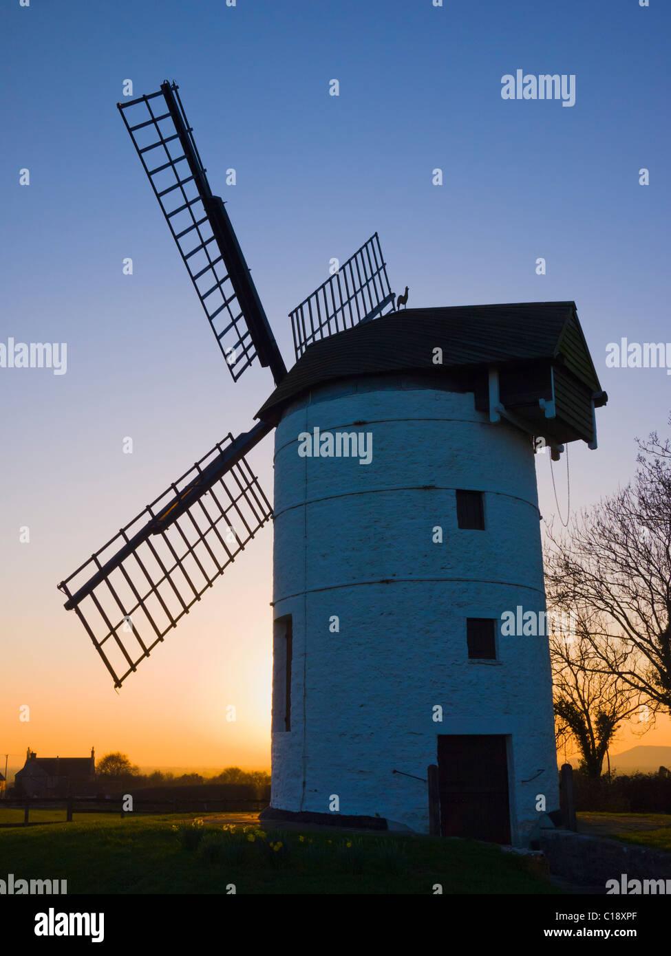 Ashton Windmill at Chapel Allerton, Somerset, England. - Stock Image
