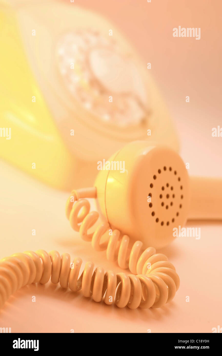 Telephone receiver, old-fashioned - Stock Image