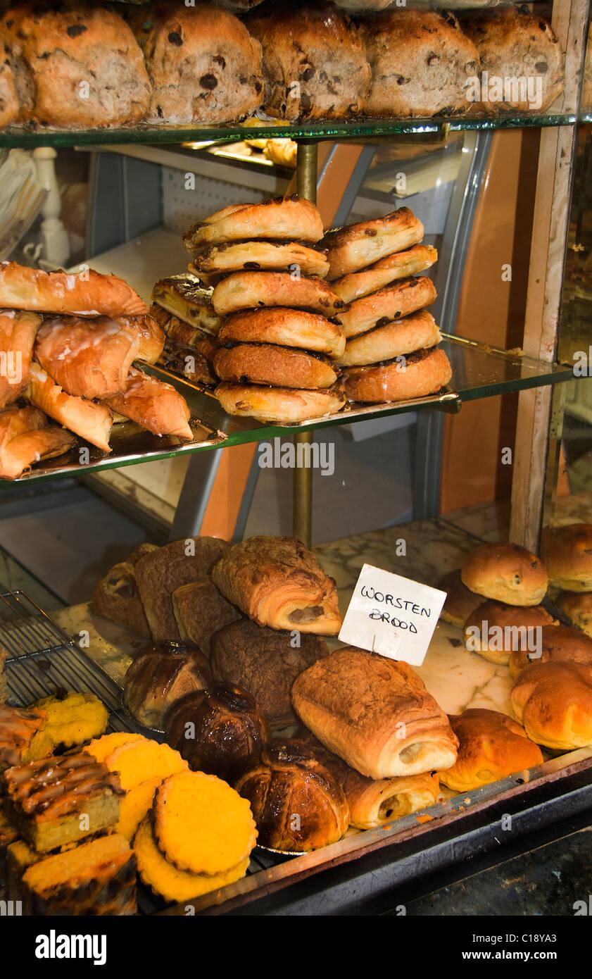 Baker Bakery The Hague center neighborhood Noordeinde Netherlands - Stock Image