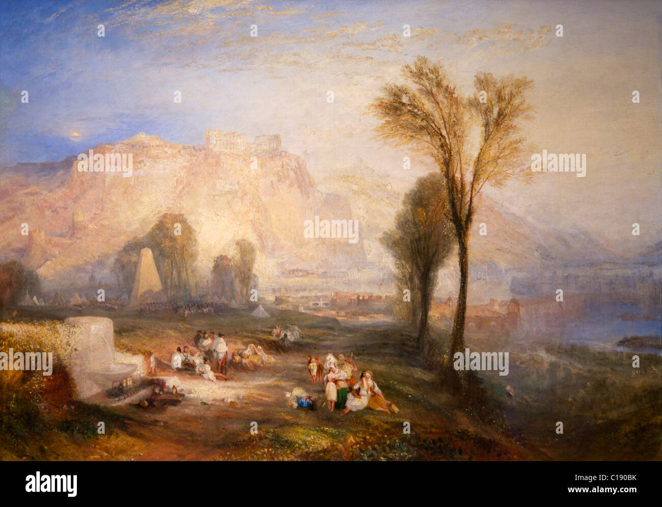 The Bright Stone of Honour (Ehrenbreitstein), and Tomb of Marceau, by Joseph Mallord William Turner, 1834-1835, - Stock Image