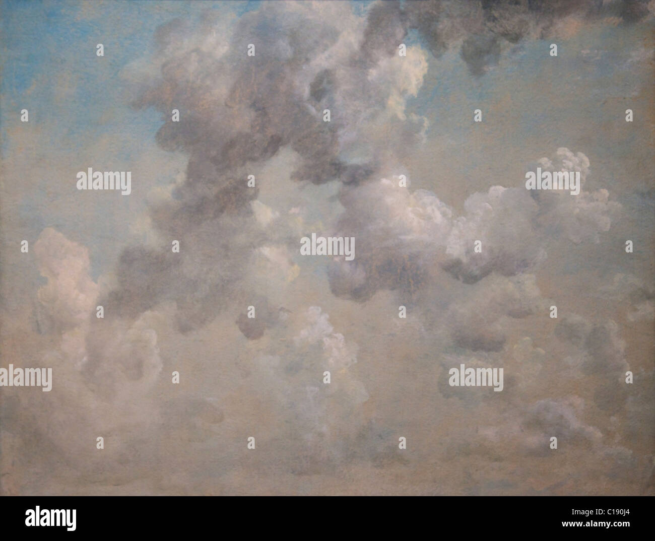 Study of Clouds, by John Constable, 1822, Ashmolean Museum of Art, University of Oxford, Oxfordshire, England, UK - Stock Image