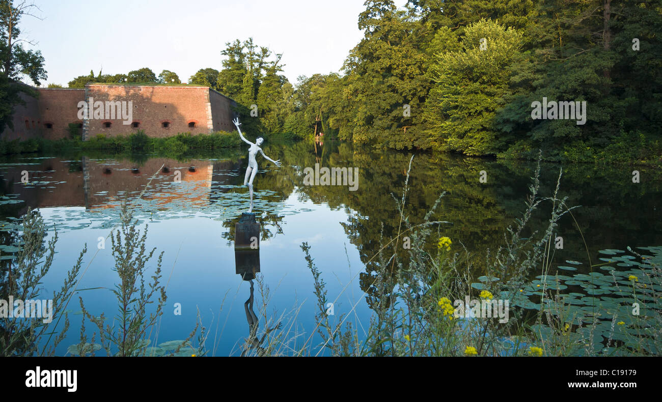 The moat outside The Citadel, Berlin - Stock Image