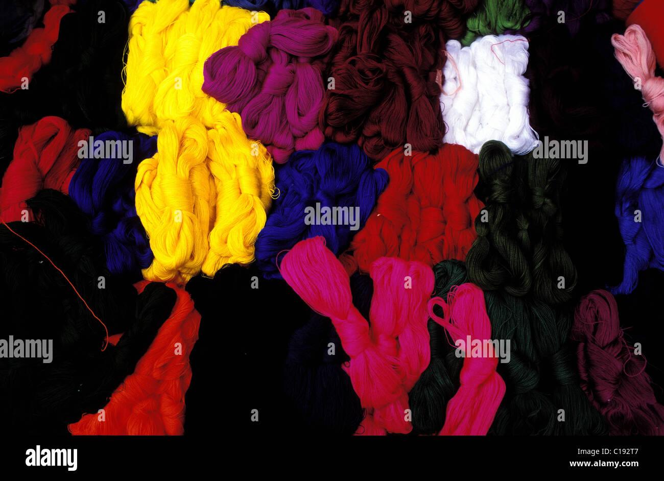Guatemala, Solola Department, Atitlan lake Santiago Atitlan wool - Stock Image