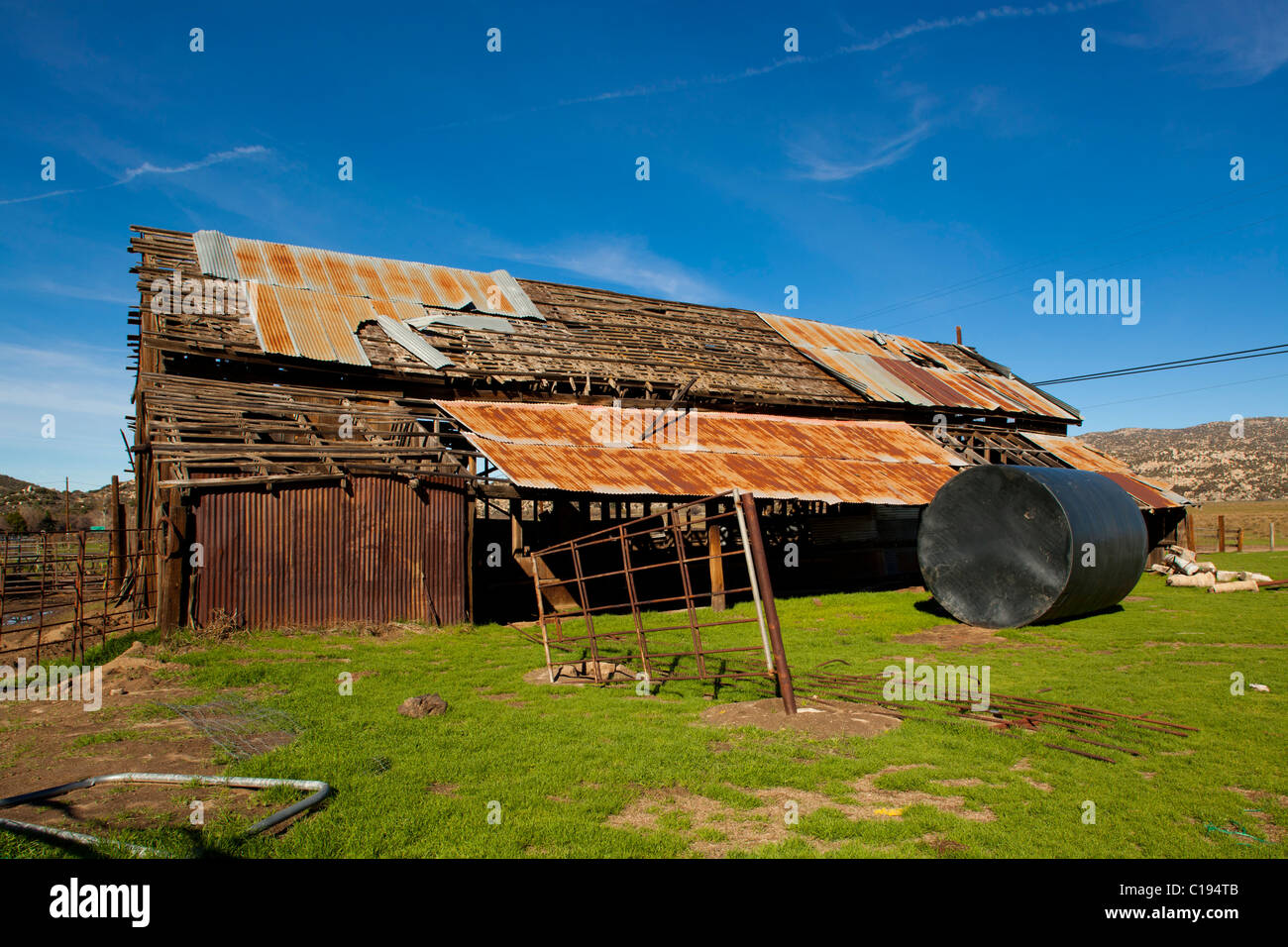 Decrepit Barn House, Aguanga, California, United States of America - Stock Image