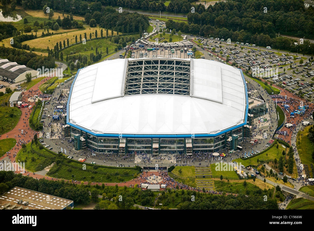 Aerial photo, Arena Auf Schalke, Schalke arena, Veltins Arena Stock Photo: 35237857 - Alamy